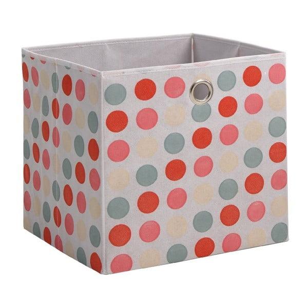 Ružový úložný box 13Casa Dotted