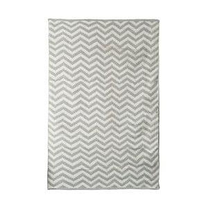 Sivo-béžový bavlnený ručne tkaný koberec Pipsa Zigzag, 140×200 cm