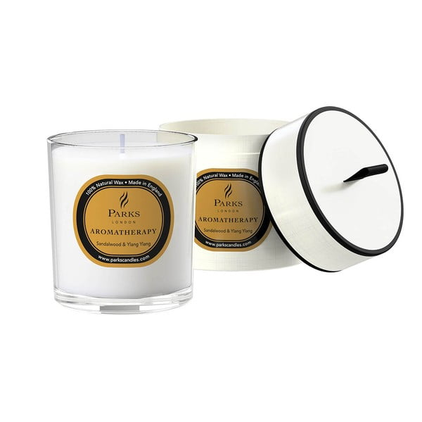 Sviečka s vôňou santalového dreva Parks Candles London Aromatherapy, 45hodín horenia