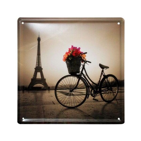 Ceduľa Paris Vibe, 20x20 cm