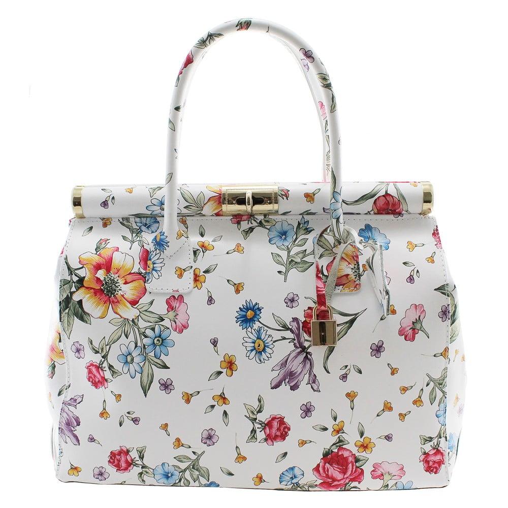 f52d30ba44 Kvetinová kožená kabelka Chicca Borse Daisy