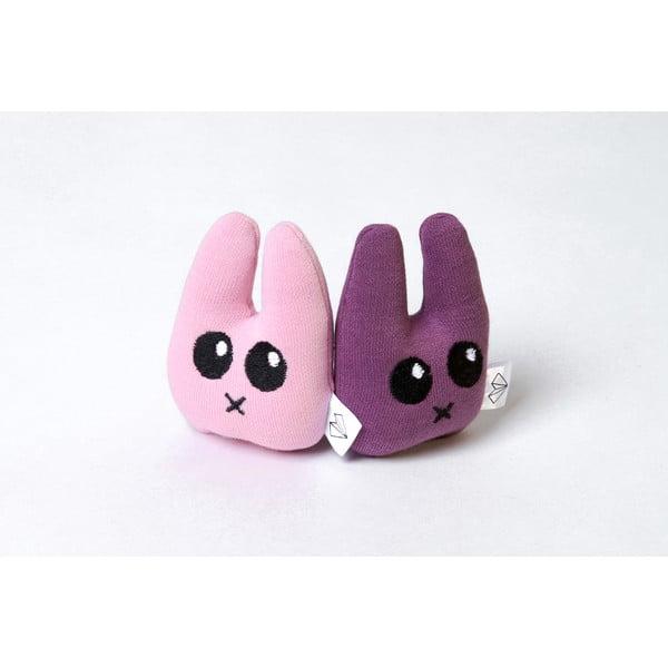 Mini plyšiak Zajac v krabičke, fialový