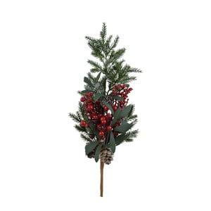 Dekoratívne vianočné vetvu s bobuľami, stredné