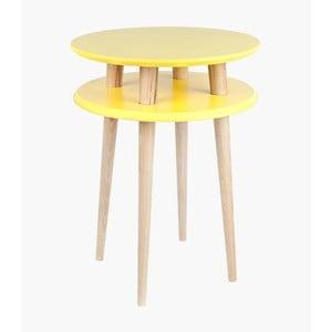 Odkladací stolík UFO 61x45 cm, žltý