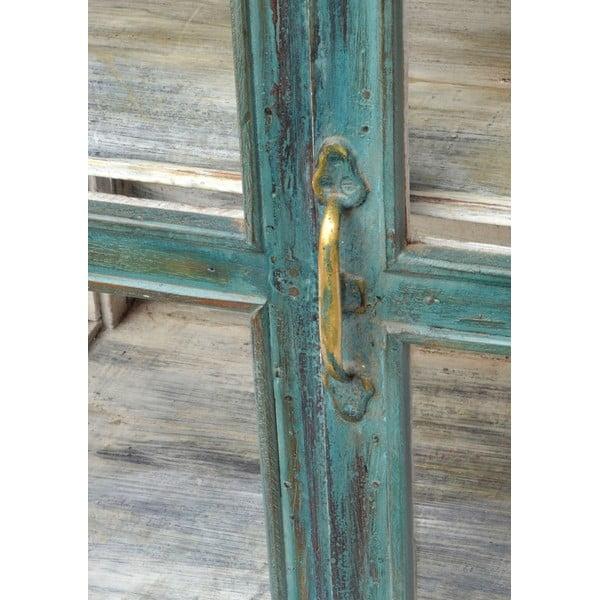 Presklená skriňa Goa 64x77 cm, tyrkysová patina