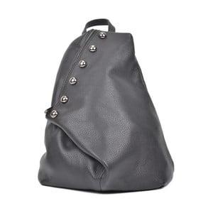 Čierny kožený batoh Luisa Vannini Desiree