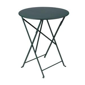 Tmavozelený skladací kovový stôl Fermob Bistro