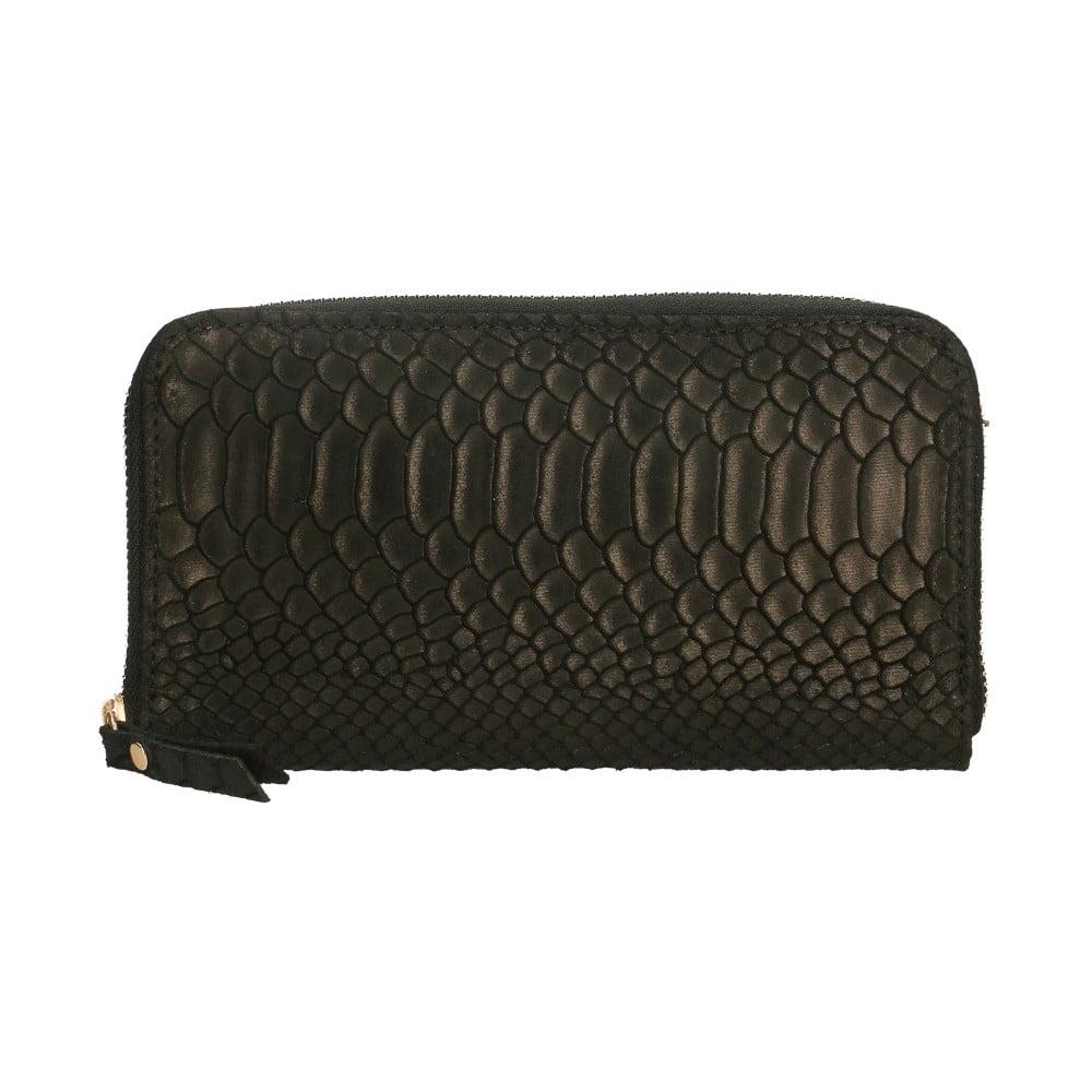 Čierna kožená peňaženka Chicca Borse Tarho