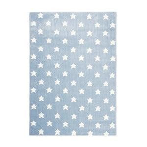 Modrý detský koberec Happy Rugs Stardust, 80x150cm