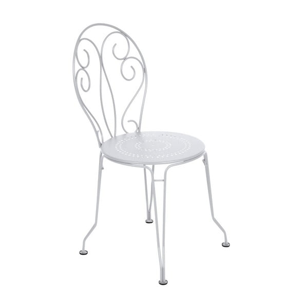 Biela kovová stolička Fermob Montmartre