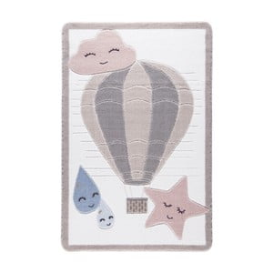 Detský svetloružový koberec Confetti Cloudy, 133x190cm