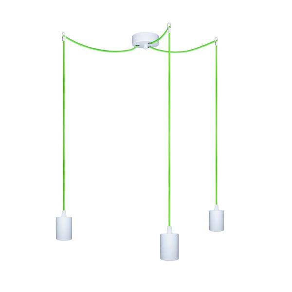 Tri závesné káble Cero, zelený/biely