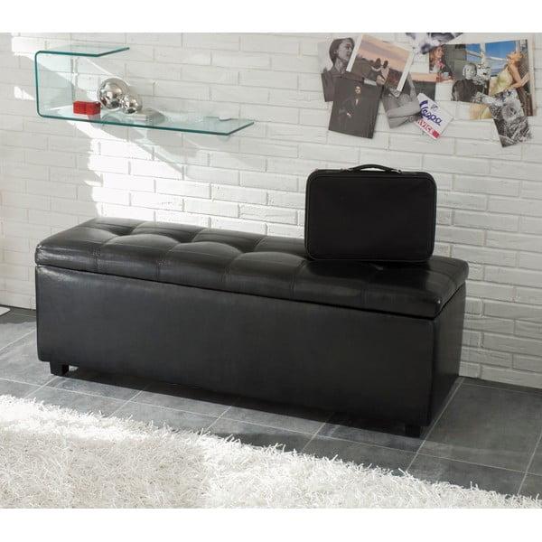 Čierna lavica na sedenie s odkladacím priestorom Tomasucci Nice