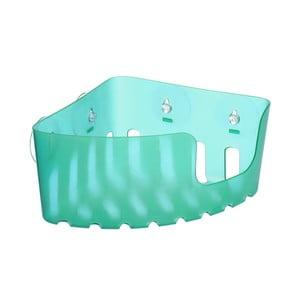 Tyrkysový nástenný rohový kúpeľňový kôšík bez nutnosti vŕtania Ta-Tay Corner Storage Basket Standart