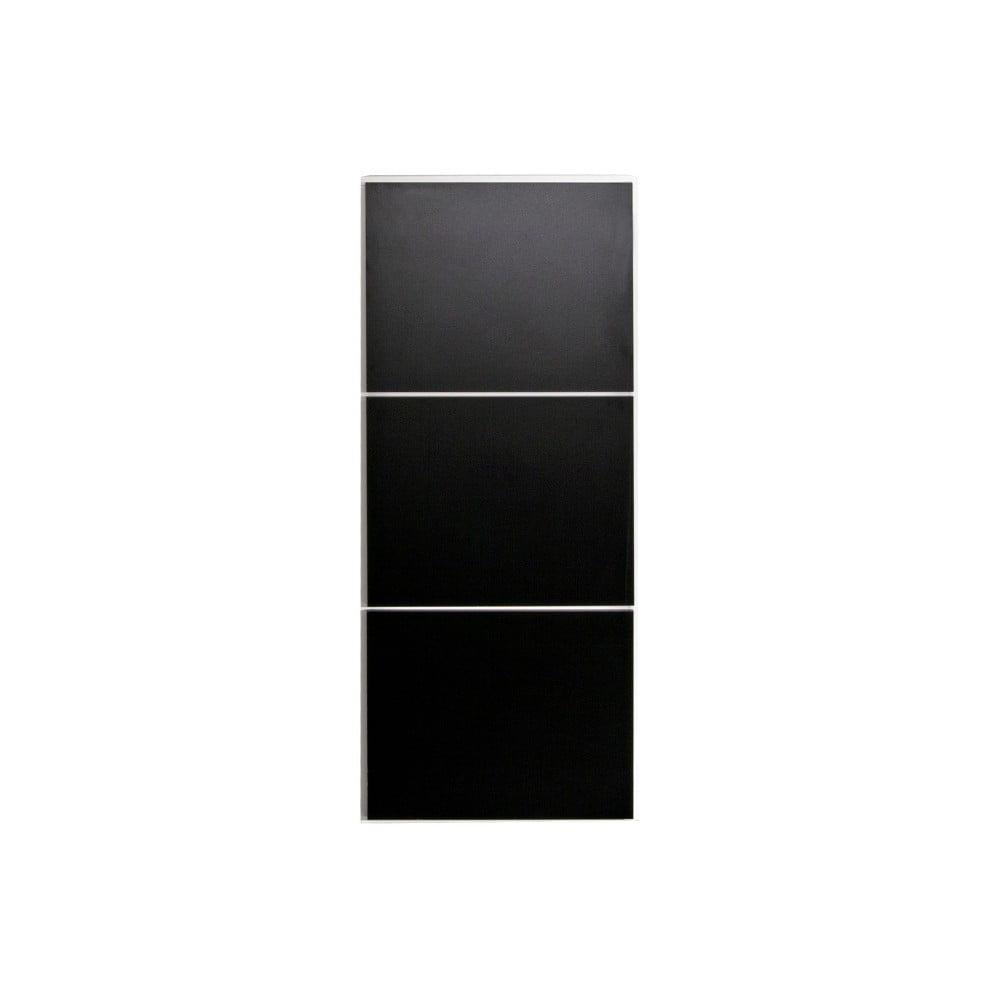 Čierna skrinka na topánky s bielym korpusom Symbiosis Bamboo