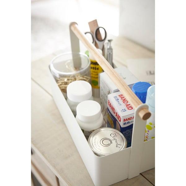 Biely multifunkčný boxYAMAZAKI Tosca Tool Box L, dĺžka29cm