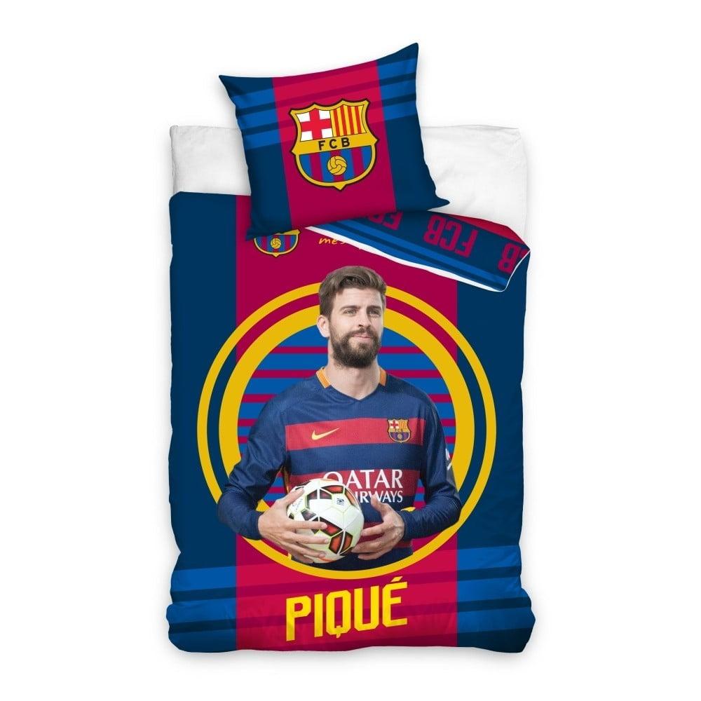Detské bavlnené obliečky na jednolôžko CARBOTEX FC Barcelona Pique, 160 × 200 cm