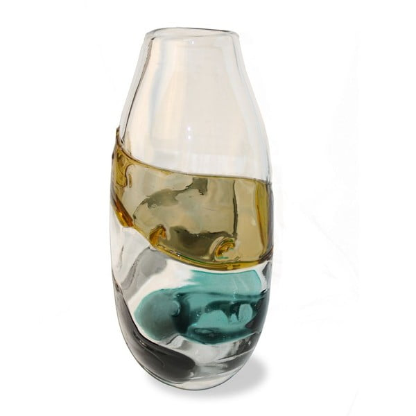 Váza Tricolour, 15x15x31 cm