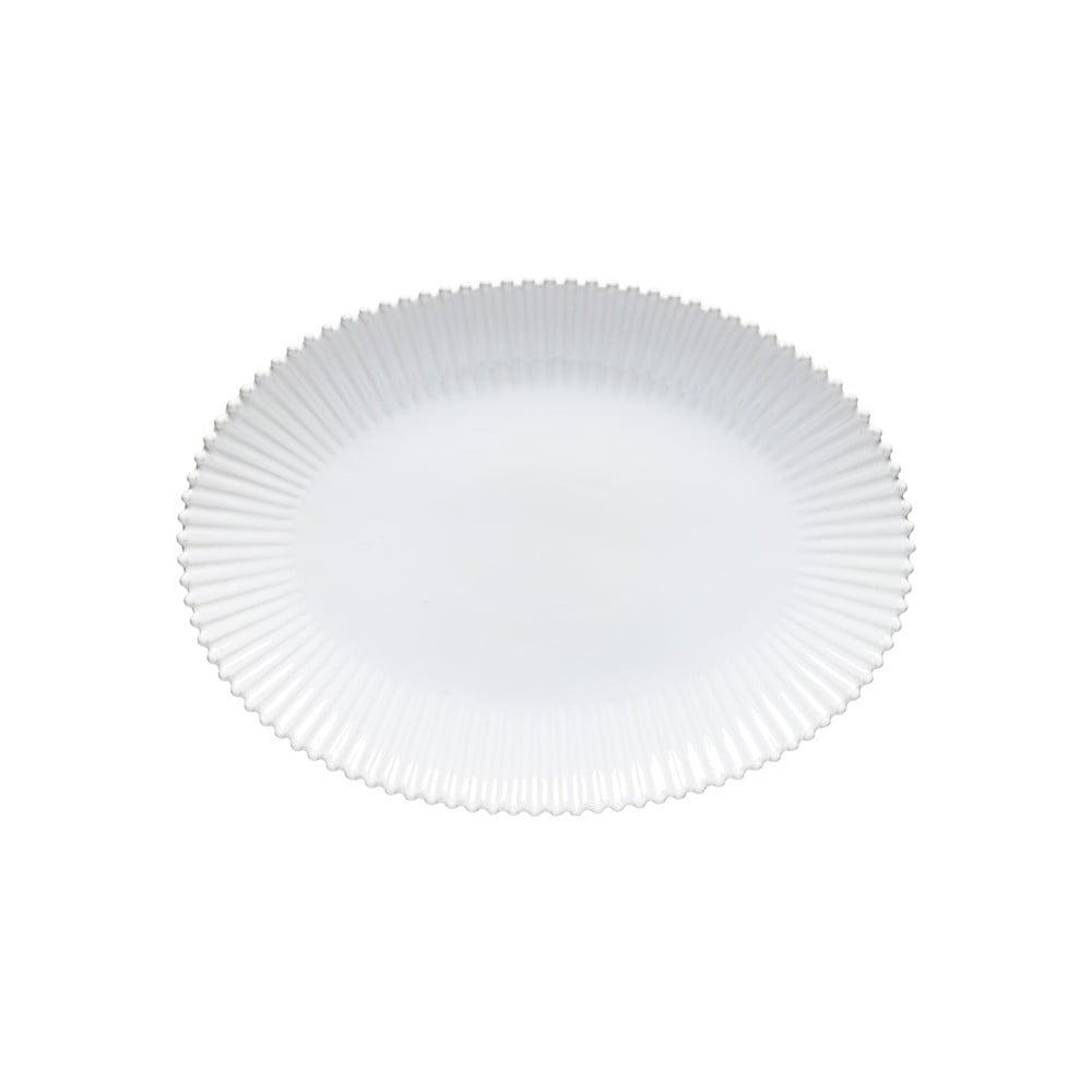 Biely kameninový oválny podnos Costa Nova Pearl, šírka 50 cm