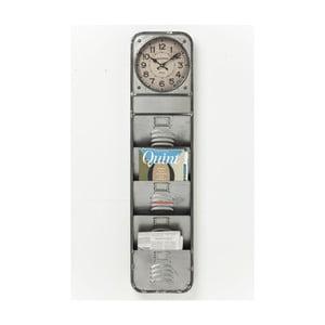Nástenné hodiny s priehradkami na časopisy Kare Design Thinktank