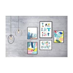 Sada 5 nástenných obrazov Tablo Center Creativity