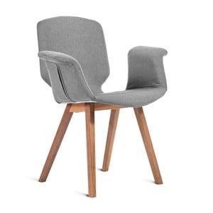 Sivá stolička Charlie Pommier Tea