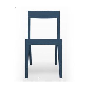 Modrá jedálenská stolička Another Brand Cubo