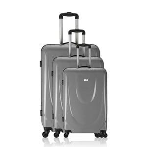 Sada 3 kufrov Integre Full Grey, 114 l/75 l/46 l