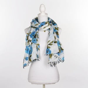 Šatka/pareo BLE Inart 100x180 cm, modrá