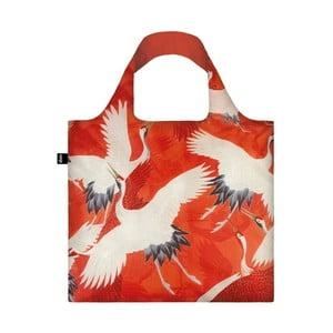 Skladacia nákupná taška skapsičkou LOQI Cranes