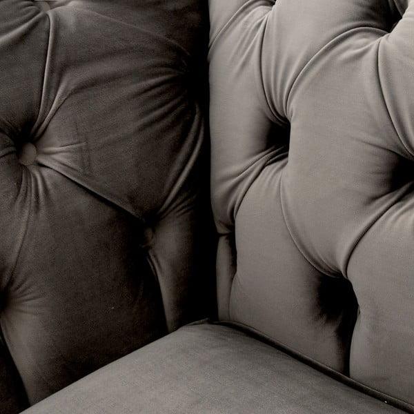 Sivá pohovka pre dvoch Vivonita Chesterfield