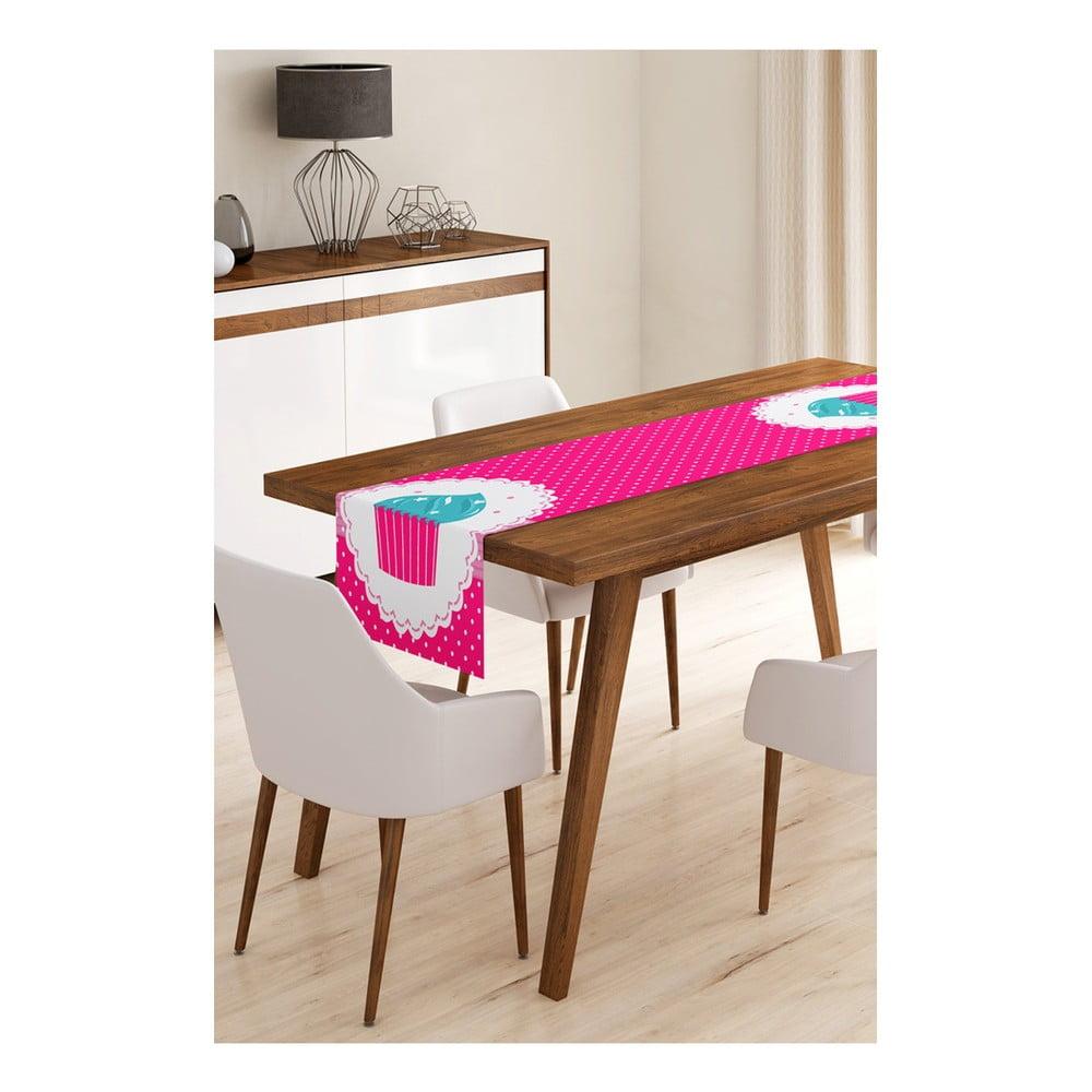 Behúň na stôl z mikrovlákna Minimalist Cushion Covers Pink Cupcake, 45 × 145 cm