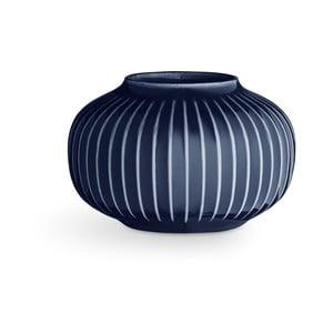 Tmavomodrý porcelánový svietnik na čajové sviečky Kähler Design Hammershoi, ⌀ 10 cm