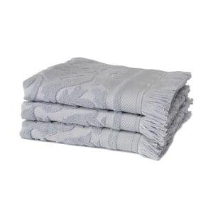 Sada 3 fialových uterákov z organickej bavlny Seahorse, 60x110cm