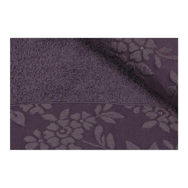 Sada 2 tmavofialových uterákov z čistej bavlny, 50 × 90 cm
