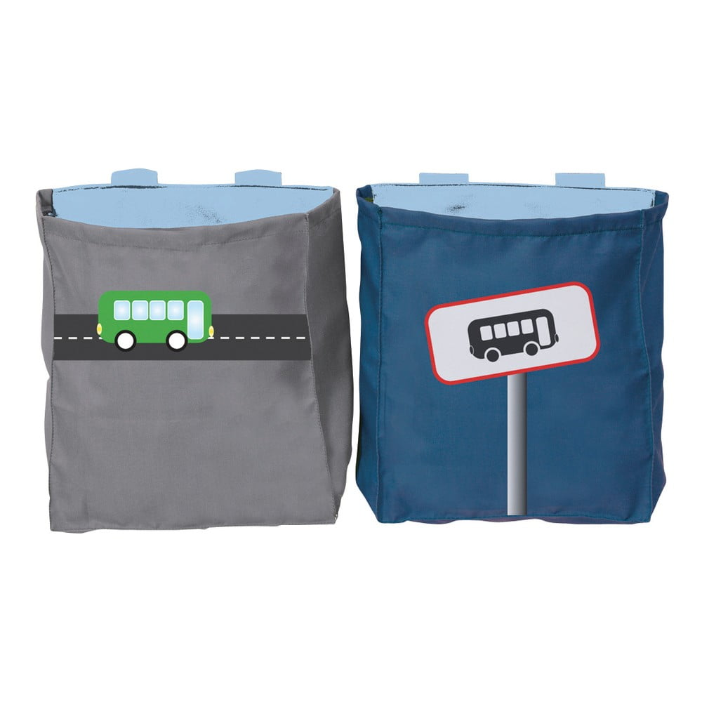 Sada 2 závesných vakov na detskú posteľ Manis-h Carwash & Traffic