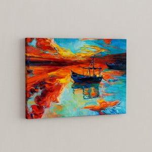 Obraz Loďka v divokom zálive, 50x70 cm