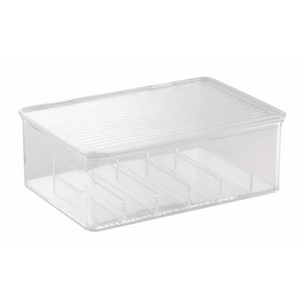 Škatuľka na kozmetiku InterDesign Clarity, 27,5 x 18,5 cm