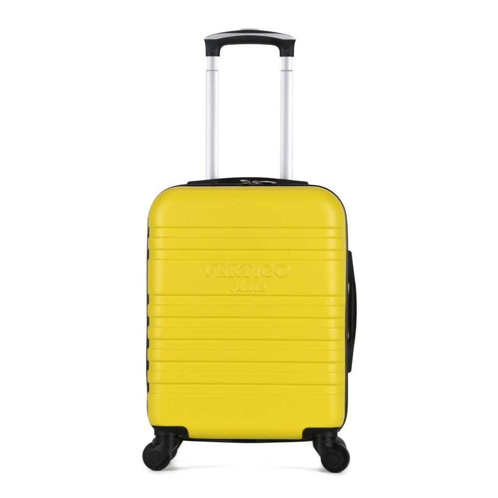Žltý cestovný kufor na kolieskach VERTIGO Valises Cabine Cadenas Muela