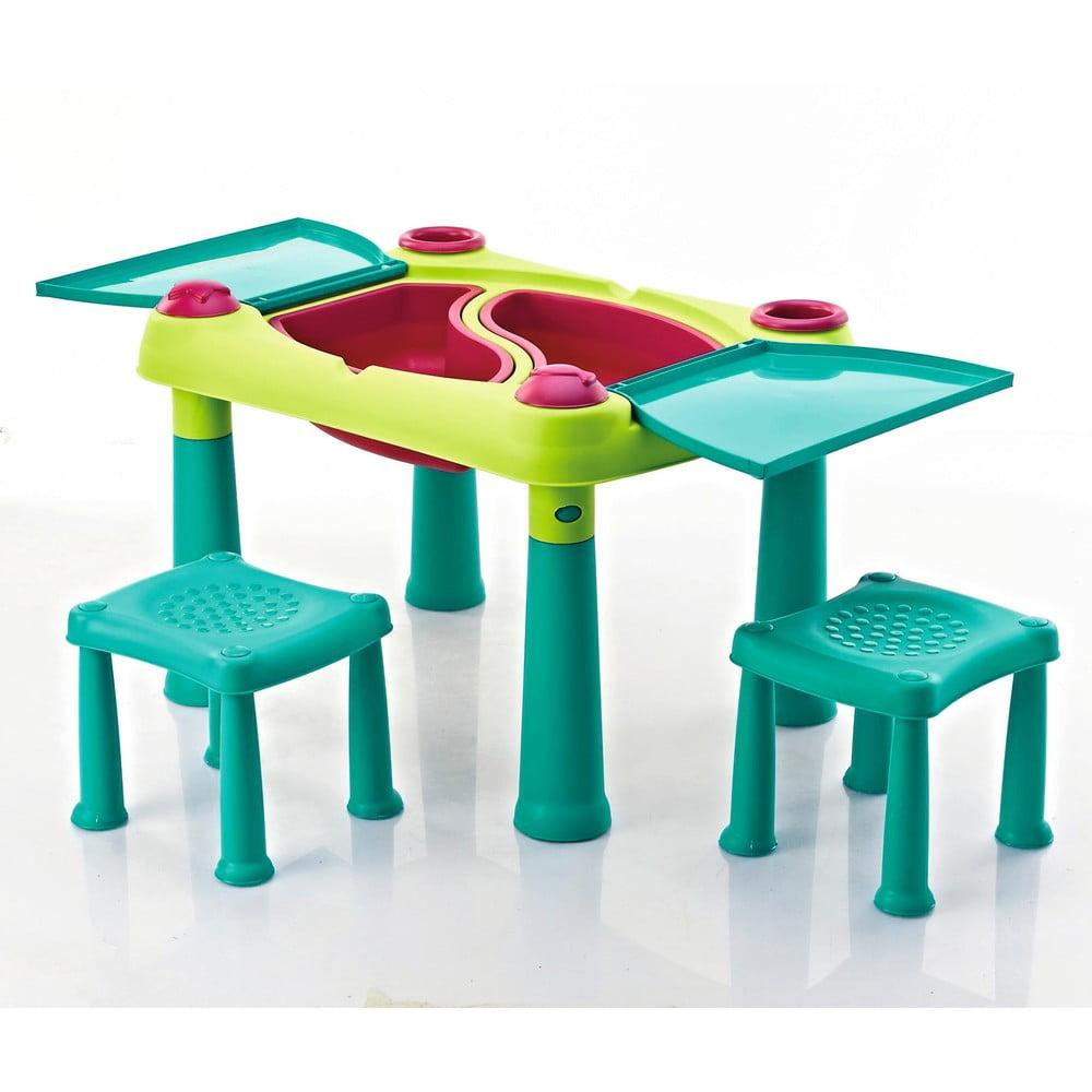 Set detského herného stola a 2 stoličiek Curver Creative