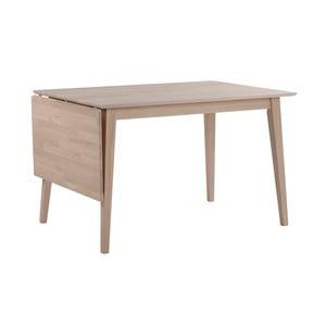 Matne lakovaný sklápací dubový jedálenský stôl Folke Mimi, dĺžka 120-165cm