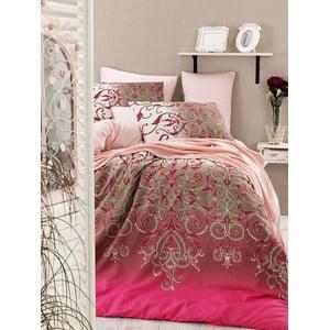 Obliečky s plachtou na dvojlôžko Vitaly Pink, 200×220cm