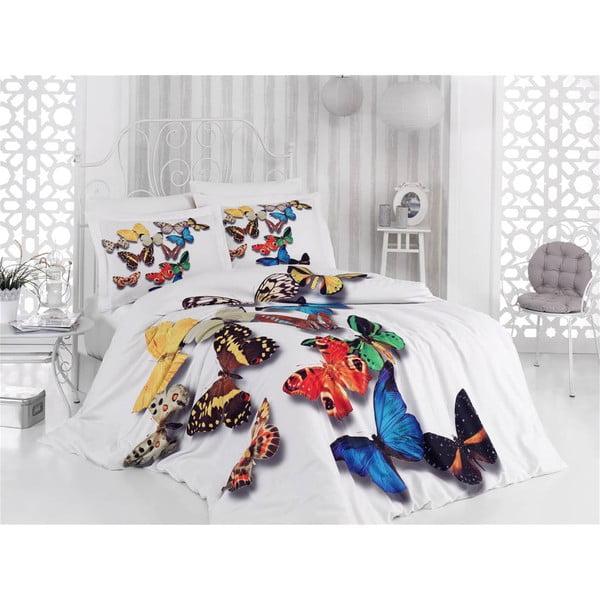 Obliečky s plachtou Satin Papillion, 200x220 cm