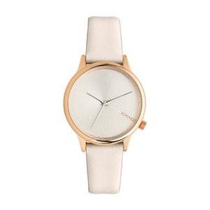 Dámske biele hodinky s koženým remienkom Komono Deco