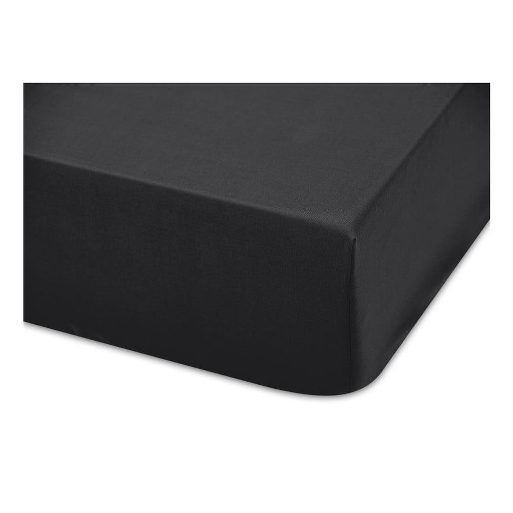 Čierna bavlnená estetická plachta Boheme Basic, šírka 160 cm