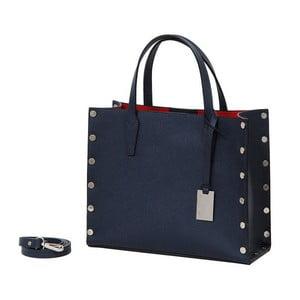 Tmavomodrá kabelka z pravej kože Andrea Cardone Gavia