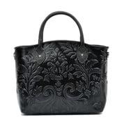 Čierna kožená kabelka Renata Corsi Rosa