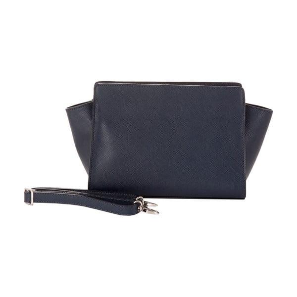 Tmavomodrá kožená kabelka Andrea Cardone 1008