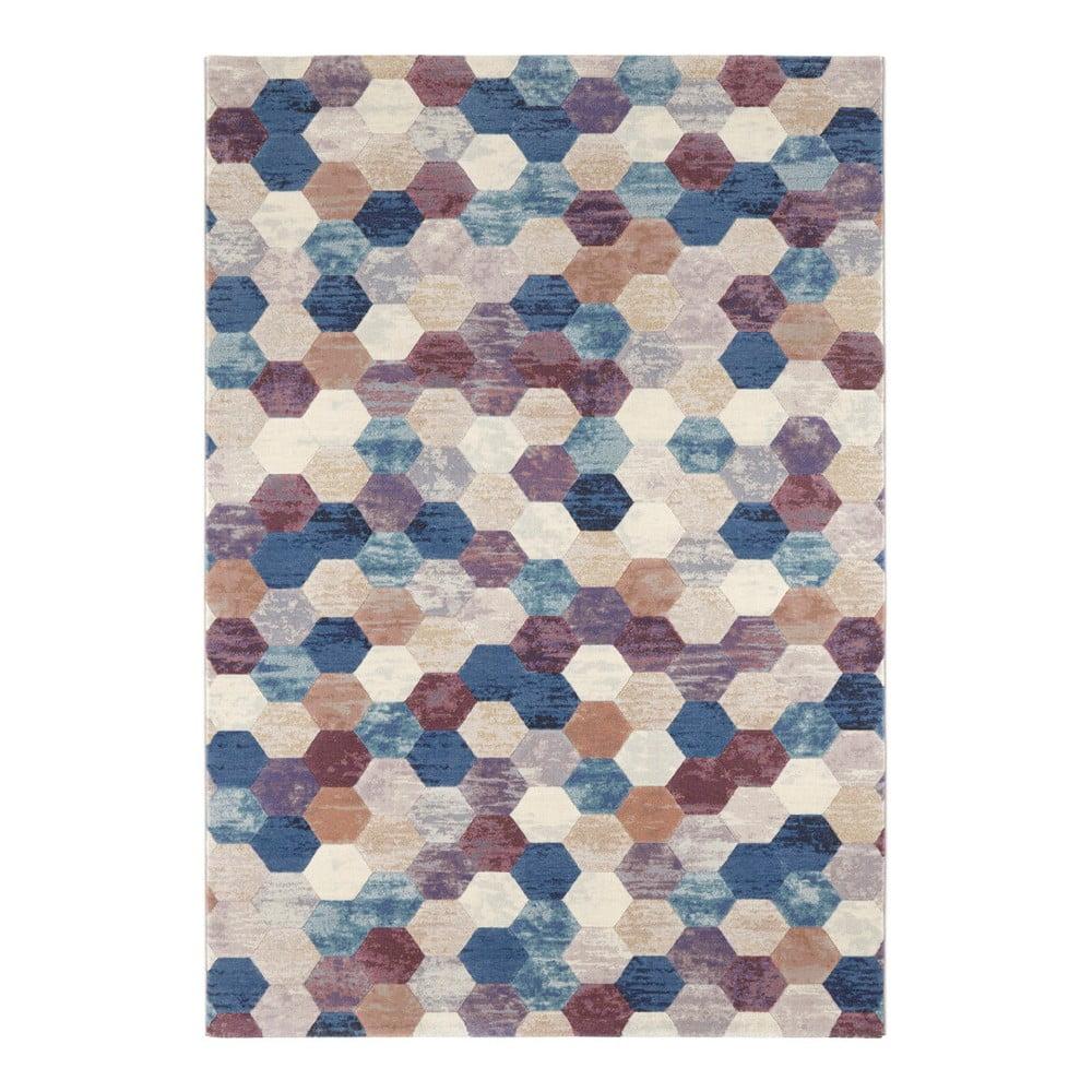 Modro-fialový koberec Elle Decor Arty Manosque, 120 × 170 cm