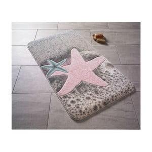 Vzorovaná ružová predložka do kúpeľne Confetti Bathmats Starfish, 80×140cm